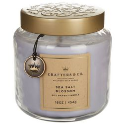 Crafters & Co. 16 oz. Sea Salt Blossom Soy Jar Candle