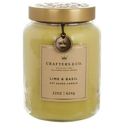 Crafters & Co. 22 oz. Lime & Basil Soy Jar Candle