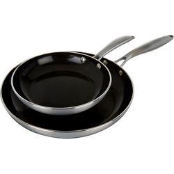 Phantom Chef 2-pk. Black Healthy & Easy Cooking Fry Pan Set
