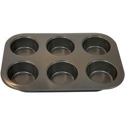 Gibson Non-Stick 6 Cup Muffin Pan