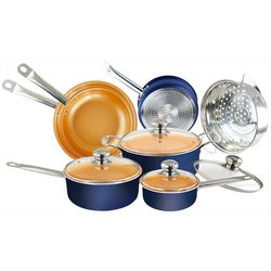 Simple & Co 11-pc. Copper Infused Cookware Set