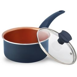 IKO 1.5 Qt. Copper Collection Ceramic Sauce Pan With Lid