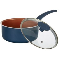 IKO 3 Qt. Copper Collection Ceramic Sauce Pan With Lid