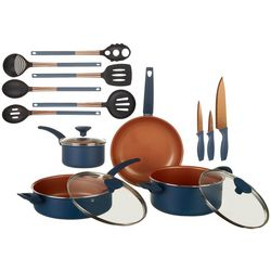 IKO 16-pc. Copper Collection Ceramic Cookware Set