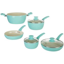 IKO 8-pc. Crema Aqua Green Cookware Set