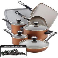 Farberware 17-pc. Copper Cookware Set