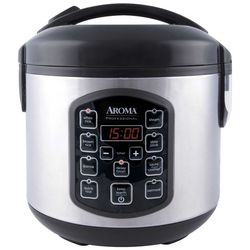 Aroma 8-Cup Stainless Steel Rice Cooker ARC-954SBD