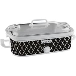Crock-Pot 3.5-qt. Black Lattice Casserole Cooker