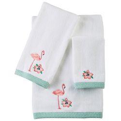 CHF Preppy Leaf Flamingo Bath Towel Collection