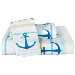 Destinations Anchor Stripe Bath Towel Collection