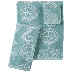 Kingsley Seahorse Jacquard Bath Towel Collection