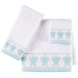 Christy Embroidered Sea Turtle Bath Towel Collection