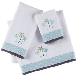 Christy Embroidered Palm Tree Bath Towel Collection