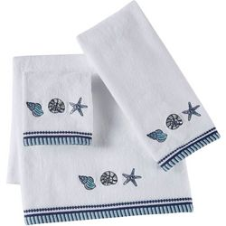 Christy Embroidered Shell Starfish Bath Towel Collection