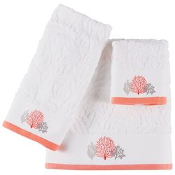 Christy Embroidered Coral Reef Bath Towel Collection