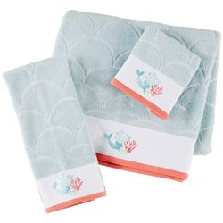 Christy Mermaid Embroidered Towel Collection