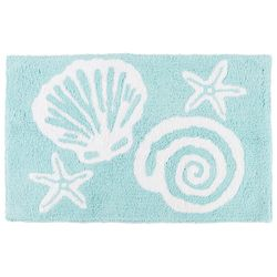 Christy Sea Shell Blues Bath Rug