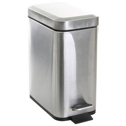 Bino Stainless Steel Rectangular Step Trash Can