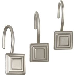 Excell Home Fashions Stepped Square 12-pc. Curtain Hook Set