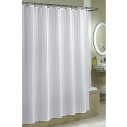 Excell Home Damask Stripe Fabic Shower Curtain Liner