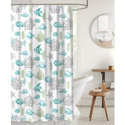 CHD Home Textiles Deep Sea Shower Curtain & Hooks