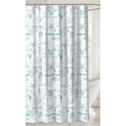 CHD Home Textiles Seaside Shower Curtain With Hooks