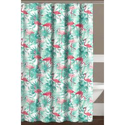 CHD Home Textiles Flamingo Shower Curtain With Hooks