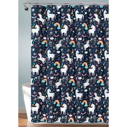 Lush Home Unicorn Heart Shower Curtain