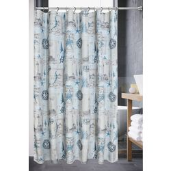 Popular Bath Products Sail Away Fabric Shower Curtain