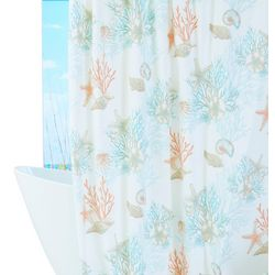 Coastal Home Under The Seashells Shower Curtain