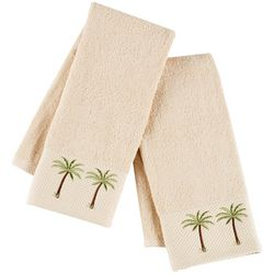 Coastal Home 2-pc. Palm Pique Hand Towel Set