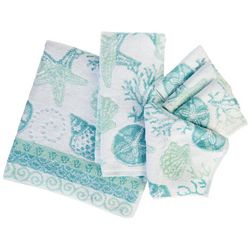 Coastal Home Shell Lagoon 4-pc. Wash Cloth Set