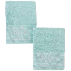 Coastal Home 2-pc. Relax & Beach A Little Hand Towel Set