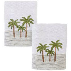 Coastal Home 2-pc. Sunset Skyline Hand Towel Set