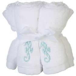 Coastal Home 5-pk. Seahorse Embroidered Wash Cloth Set