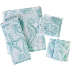 Coastal Home Ocean Seahorse Bath Towel Collection