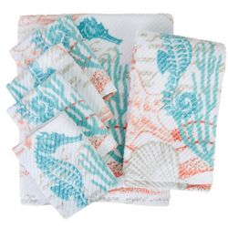Coastal Home North Shore Print Bath Towel Collection
