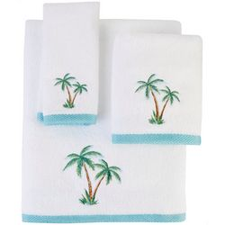 Coastal Home Palm Isle Embroidered Bath Towel Collection