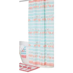 Coastal Home Flamingo Breeze Shower Curtain