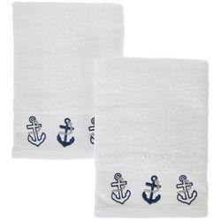 Coastal Home 2-pc. Anchors Away Hand Towel Set