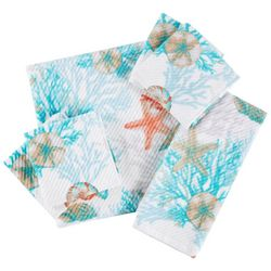 Coastal Home Under The Seashells Bath Towel Collection