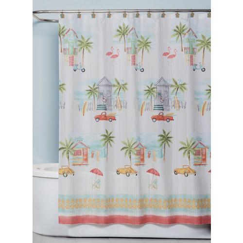 Saturday Knight By The Surf Shower Curtain