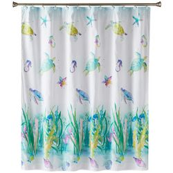 Saturday Knight Watercolor Ocean Shower Curtain