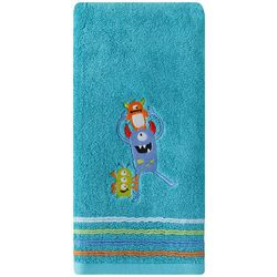 Saturday Knight Embroidered Monsters Hand Towel