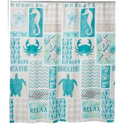 Bacova Coastal Patch Shower Curtain