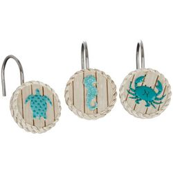 Bacova 12-pc. Coastal Patch Shower Curtain Hooks