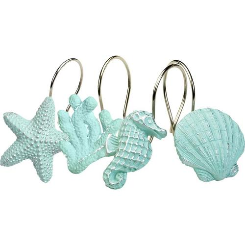 India Ink Under Sea Shower Curtain Hooks