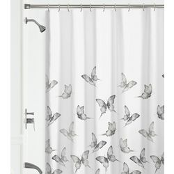 Zenna Home Butterflies Fabric Shower Curtain