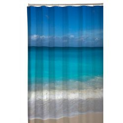 Zenna Home Beach Photo Fabric Shower Curtain