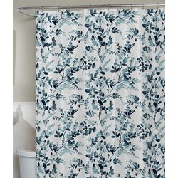 Zenna Home Watercolor Botanical Fabric Shower Curtain